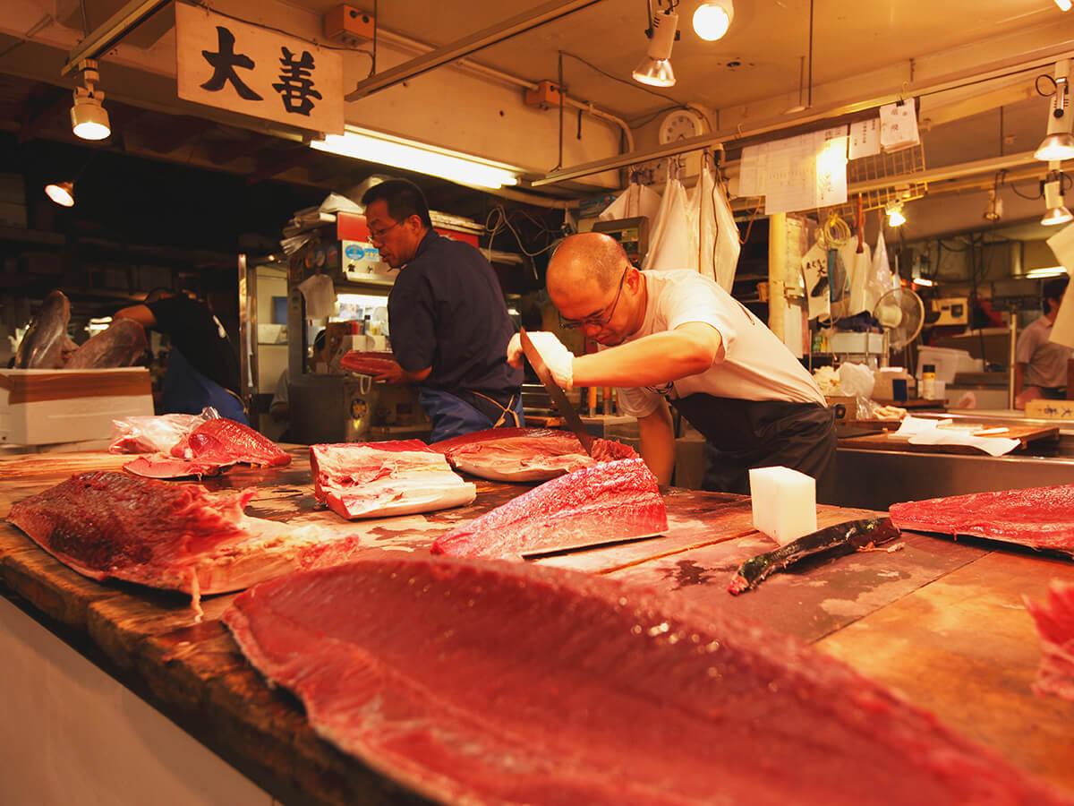 Distrito comercial del Mercado Exterior de Tsukiji