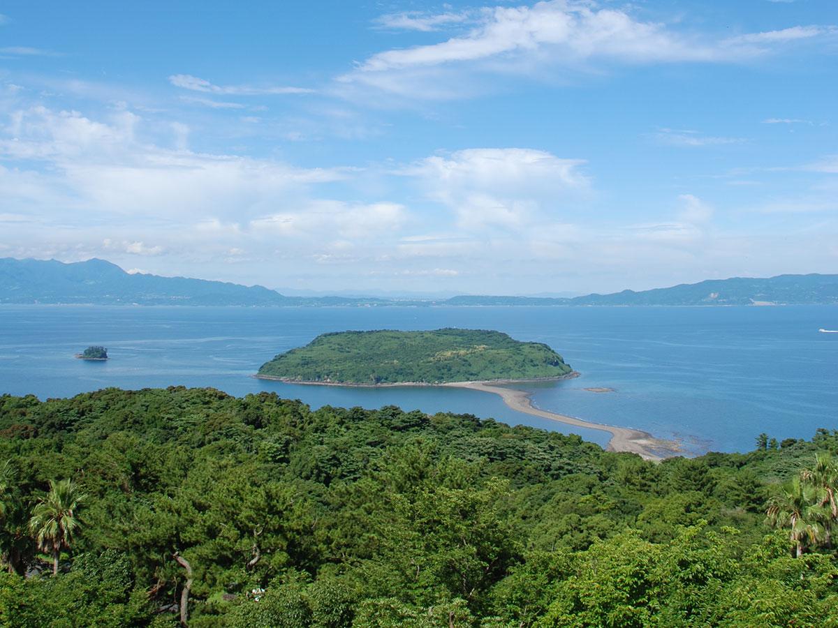 Vista de Chiringashima desde el Mirador de Uomidake
