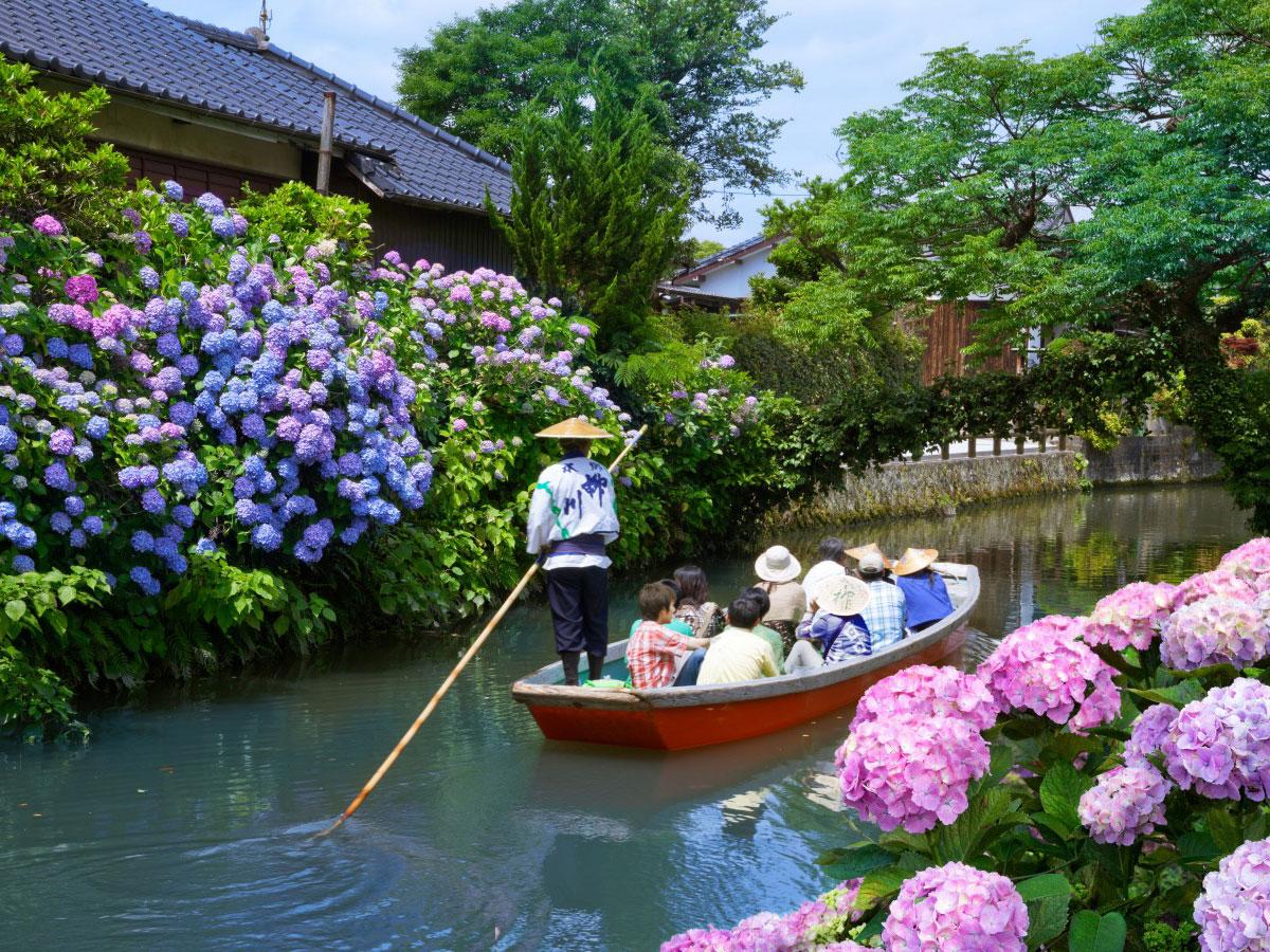 Yanagawa-Flussbootsfahrt